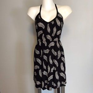 H&M black and white print dress